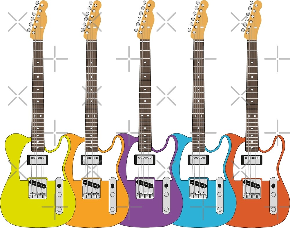 Telecaster Rainbow by WASABISQUID