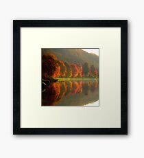 Reflets d'automne Framed Print