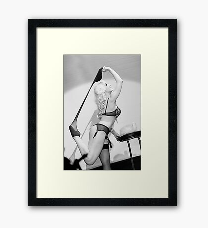 Burlesque 2 Framed Print