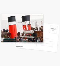 Waverley Paddle Steamer Funnels Postcards