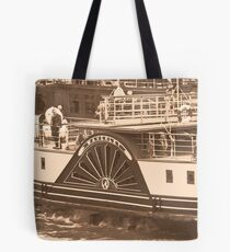 Waverley Paddle Steamer Paddles in Sepia Tote Bag
