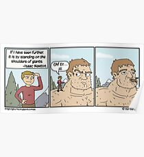 All the best webcomics quote Isaac Newton. Poster