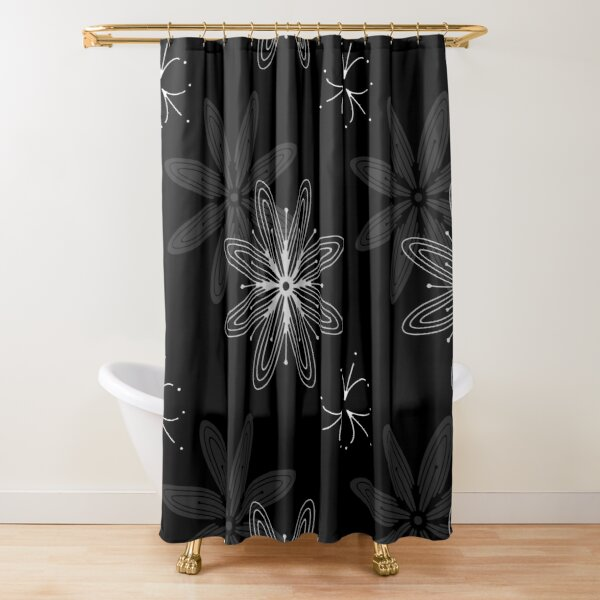Mandala Swirl Collection Floral Seamless Surface Pattern Shower Curtain