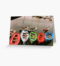 Colours in the Harbour Greeting Card