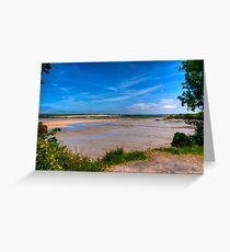 Natural Frame for the River Greeting Card