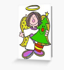 Christmas Angel Baby Greeting Card
