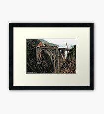 Bixby Bridge Splendor Framed Print
