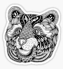 Zentangle bear portrait. Sticker