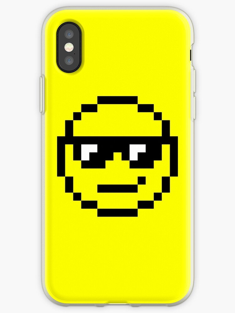 Pixel Art Smiley Face Iphone Case Cover