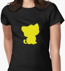 BeBe Kitty in yellow Womens Fitted T-Shirt