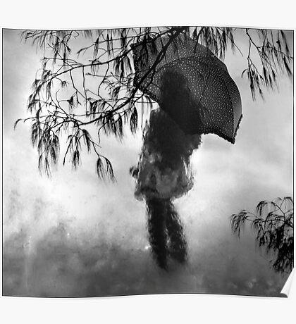 woman in the rain II Poster