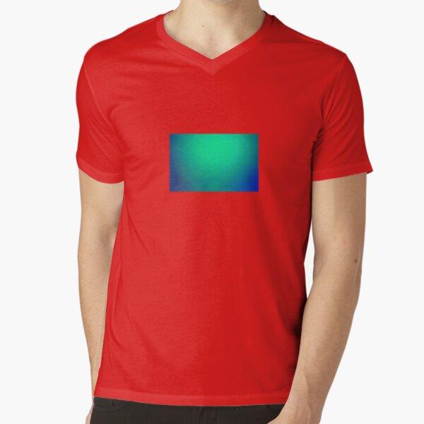 Blue Background Image V-Neck T-Shirt