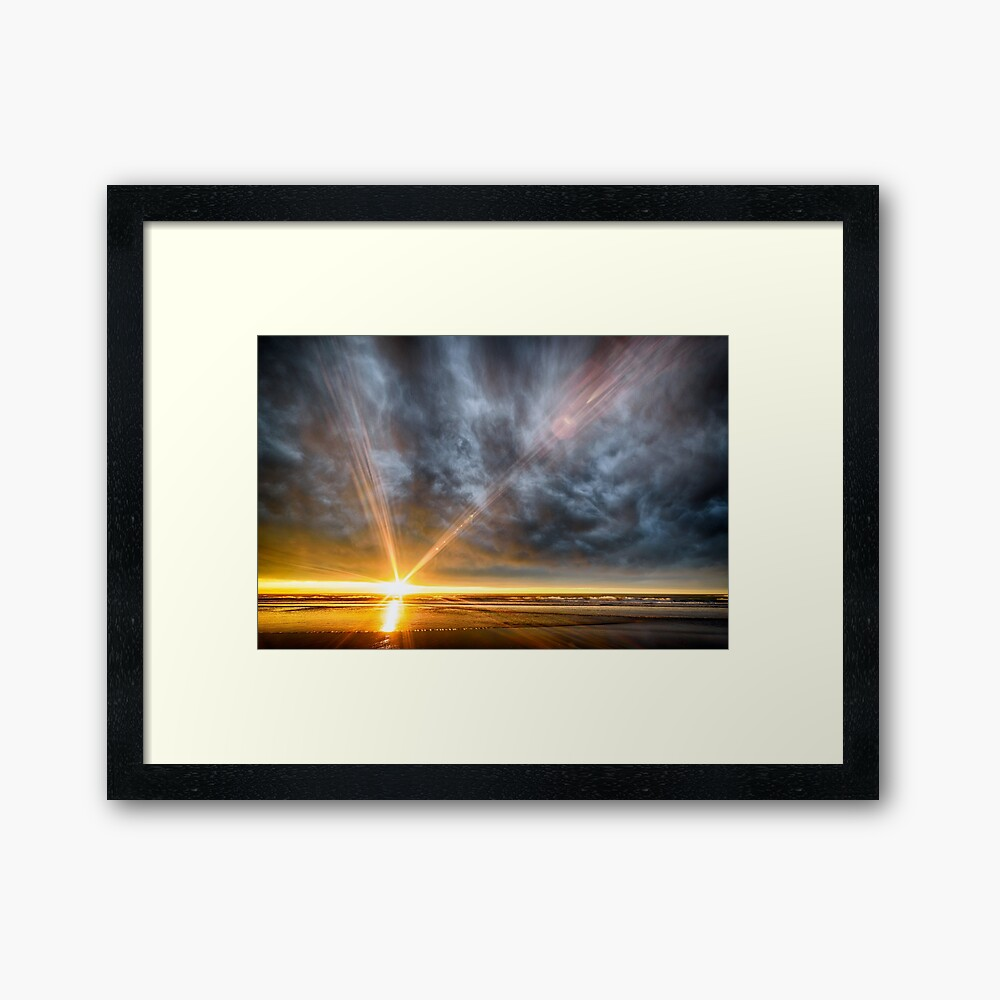 Woodend Beach Sunrise Framed Print