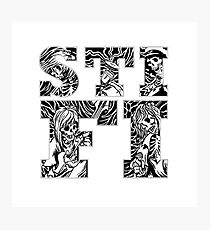 Sticky Fingers (Logo) w/ Skeleton Background Photographic Print