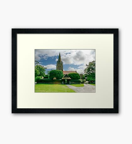St. Bartholomew Thurstaston Wirral Cheshire Framed Print