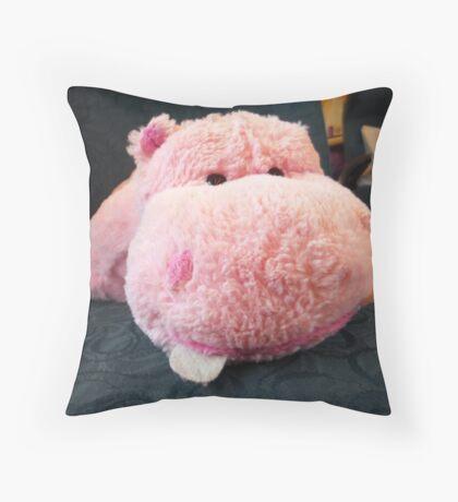 Hippo Commuter Throw Pillow