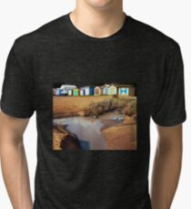 Bathing Boxes, Mornington Beach 2 Tri-blend T-Shirt