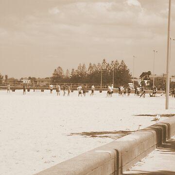 Beach Footy Tradition by wyvernsrose