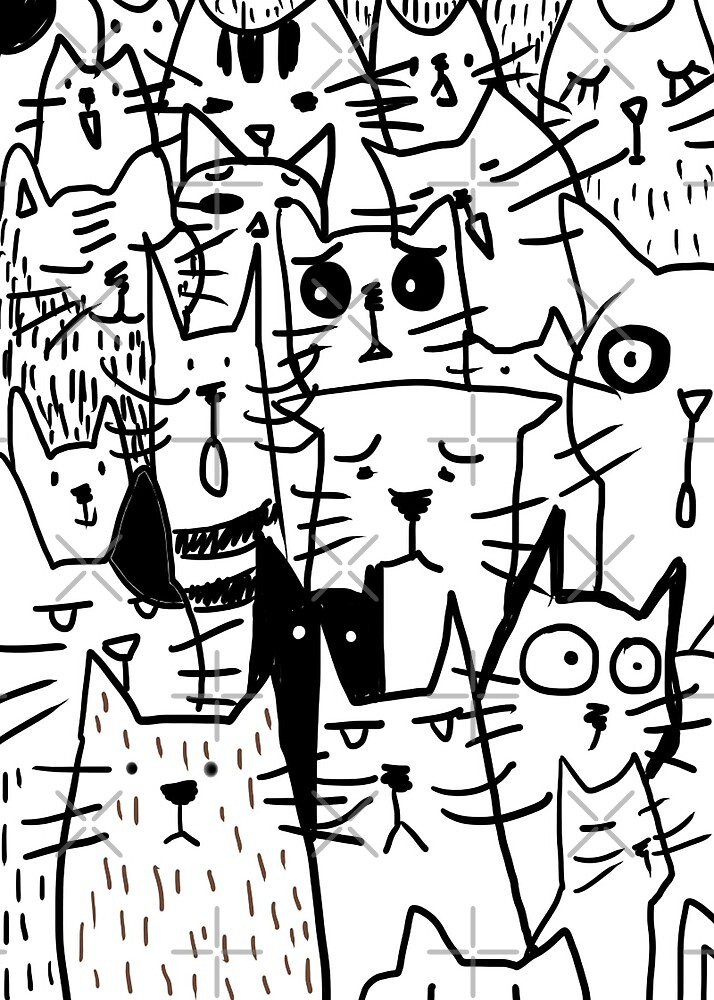 Cats doodle by KaylaPhan