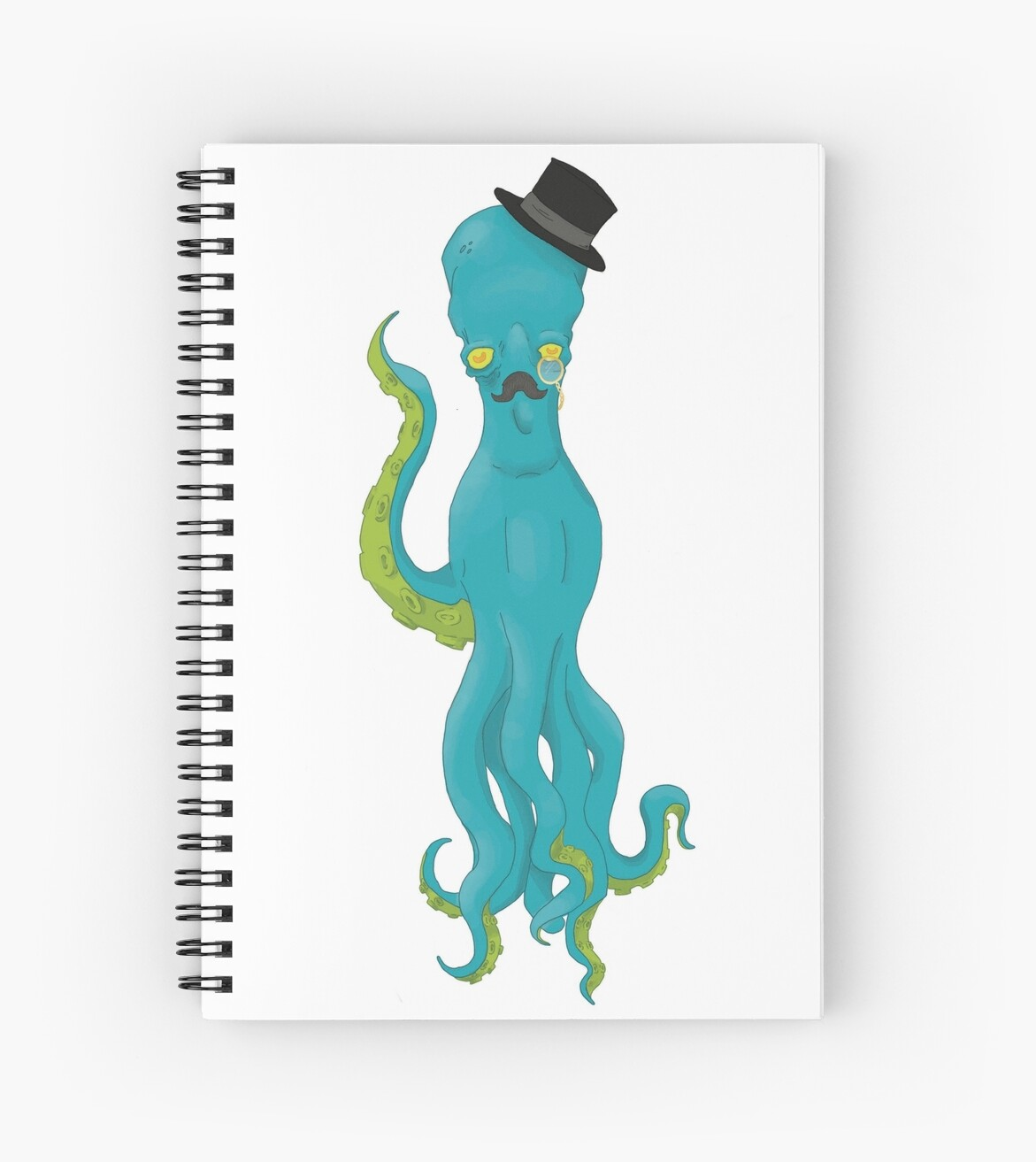 Top Hat Octopus -White by mwitchall