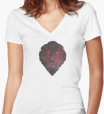Stannis' armour  Women's Fitted V-Neck T-Shirt