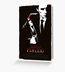 American Psycho (2000) Custom Poster Greeting Card
