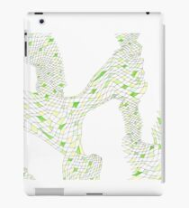 Geometric landscape green drawing iPad Case/Skin