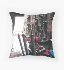 PARKING GONDOLAS EL BAUER- VENICE -ITALY- EUROPA- 2000 VISUALIZz. 2013  -  VETRINA RB EXPLORE 27 NOVEMBRE 2011 -       - Throw Pillow