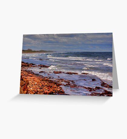 Sea View - Bamburgh Greeting Card