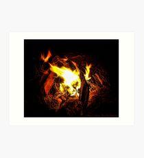 Campfire Memories Art Print