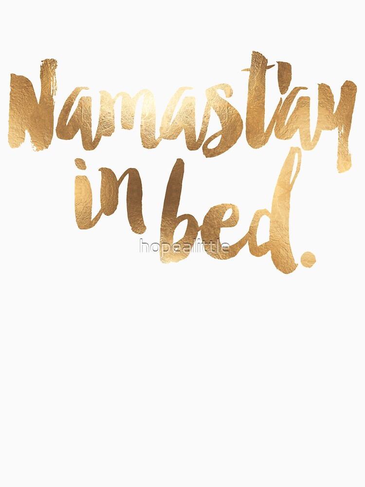 Namastay In Bed Gold & White by hopealittle