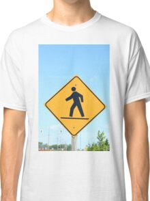 Crosswalk Sign Classic T-Shirt