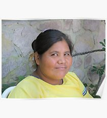 Young Huichol Lady - Joven Señora Huichol, Puerto Vallarta, Mexico Poster