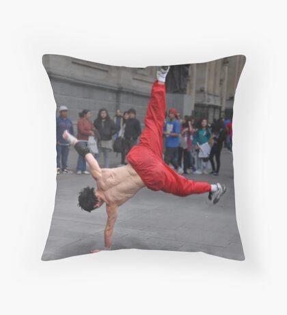 Street Acrobat Throw Pillow
