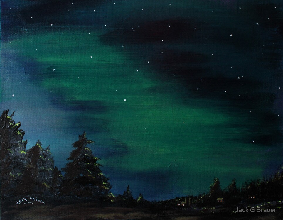Northern Lights 2 by Jack G Brauer