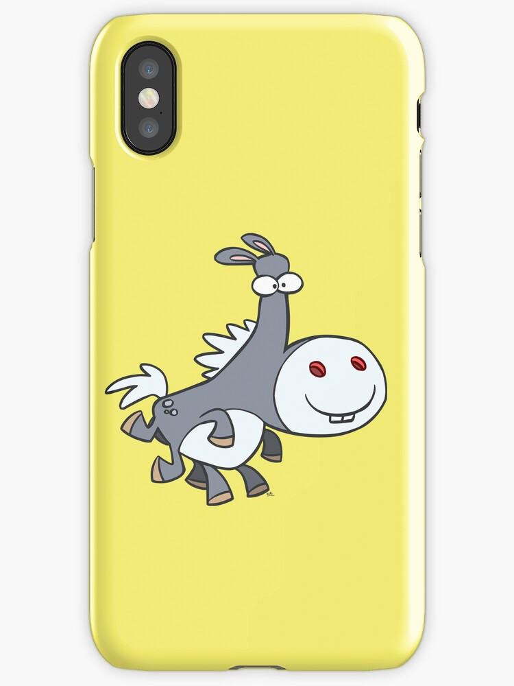 Happy Sleipnir iPhone Case by cheerfulmadness