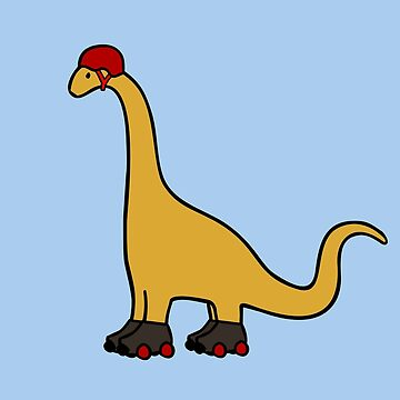 Roller Derby Brachiosaurus by jezkemp