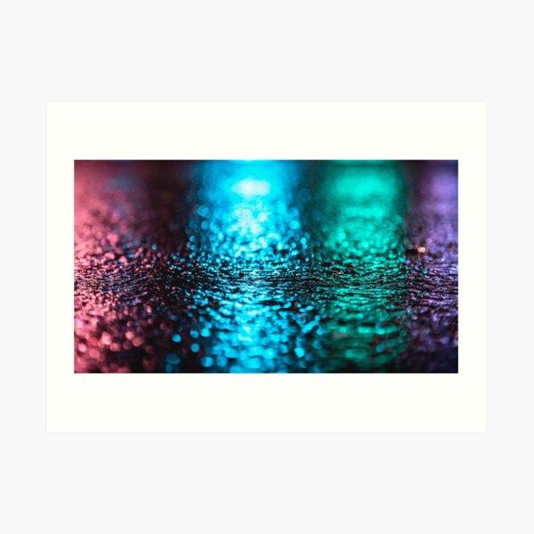 Neon Reflection Art Print