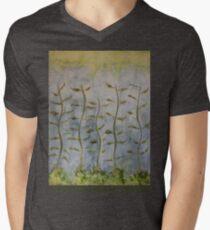The Dancing Cabbage Weeds Men's V-Neck T-Shirt