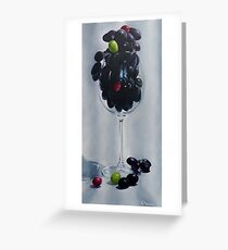 Grapes In A Wine Glass Greeting Card