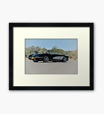1958 Corvette Roadster 'On Location' IV Framed Print