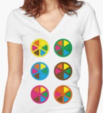 NDVH Trivial Pursuit Women's Fitted V-Neck T-Shirt