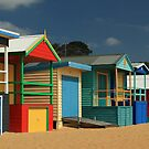 Beach Boxes 1 - Mornington Peninsula  by Kathy Reid