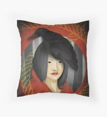 crow crown Throw Pillow
