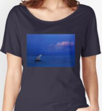 Jump over the horizon or dive into the Aegean Women's Relaxed Fit T-Shirt