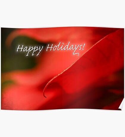 Poinsettia dreams - holiday card Poster