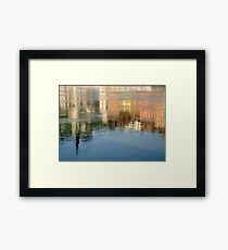 Rhone river reflection Framed Print