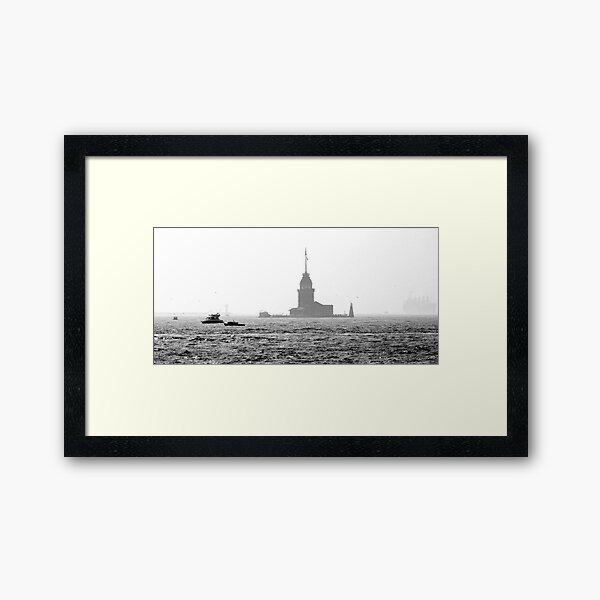 Black and White Istanbul 01 Framed Art Print