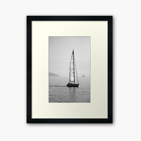 Black and White Istanbul 03 Framed Art Print