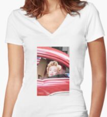 Marilyn Monroe iPhone Case Women's Fitted V-Neck T-Shirt